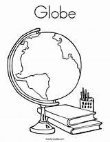 Globe Coloring Twistynoodle Built California Usa sketch template
