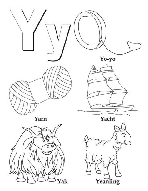 colors that start with v my a to z coloring book letter y coloring page alphabet
