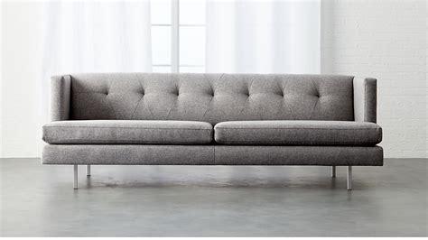 Cb2 Loveseat by Avec Tufted Grey Sofa Cb2