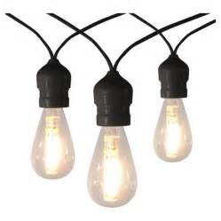 10ct vintage led warm white string lights with black wire