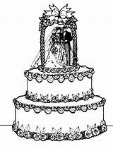 Cake Coloring Wedding Pages Food Awesome Angel Cakes Template Tocolor sketch template