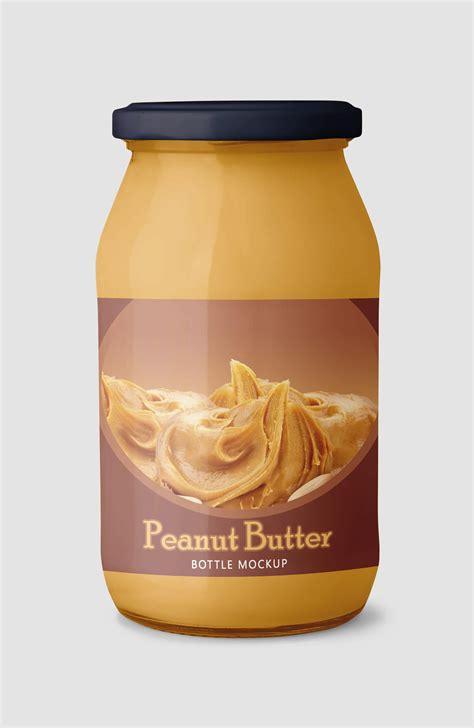 Glass jar butter peanut mockup psd free. Free Peanut Butter Jar Mockup in PSD - DesignHooks