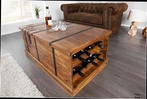 Table Avec Rangement : table de salon bois massif design en image ~ Teatrodelosmanantiales.com Idées de Décoration