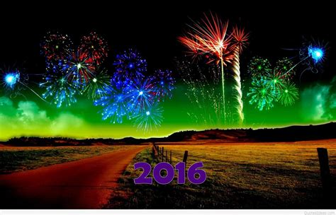 New Year Wishes Backgrounds by Fireworks Happy New Year 2016