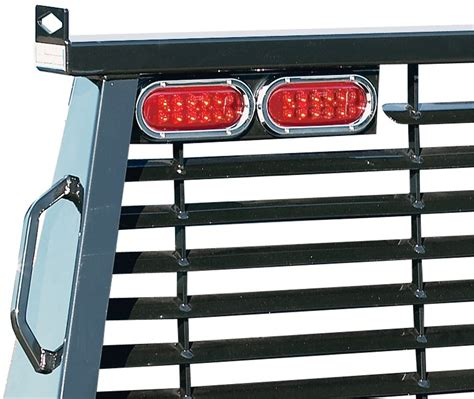 headache rack with lights b w custom headache rack w led brake turn lights