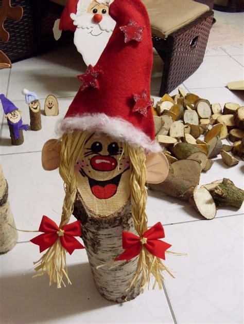 fuer den weihnachtsbasar  habe ich baumstammfiguren