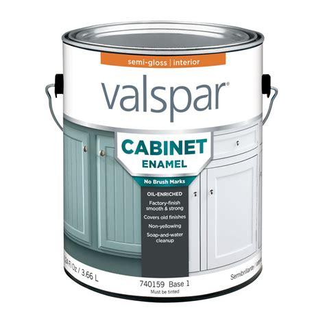 cabinet paint lowes shop valspar semi gloss base 1 enamel paint actual