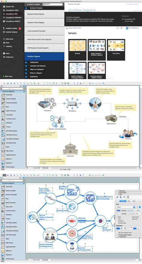 workflow diagram symbols features  draw diagrams faster