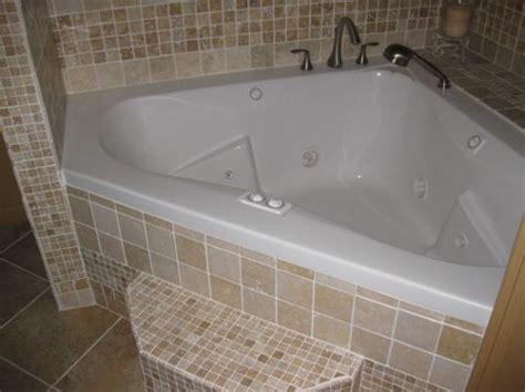 corner whirlpool tub shower walk  bathroom remodel