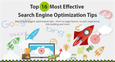 Search Engine Optimisation Techniques by Effective Search Engine Optimization Tips Infographic