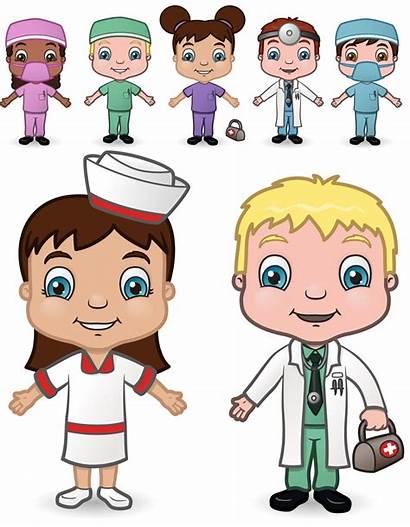 Doctor Occupations Clipart Nurses Cliparts Kid Boy