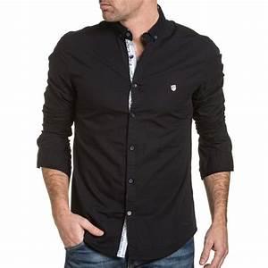 Chemise Jean Noir Homme : chemise chemisette chemise homme noir unie chic ~ Melissatoandfro.com Idées de Décoration