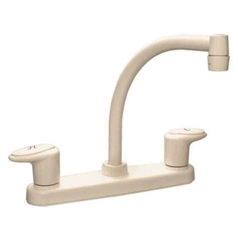 biscuit kitchen faucet faucets 8 quot dual handle rv kitchen faucet hi arc