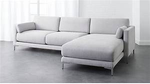 district microfiber sectional sofa cb2 With district 2 piece sectional sofa