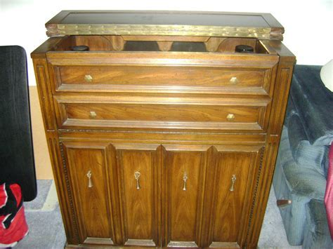 Furniture: Appealing Antique Liquor Cabinet With Wooden