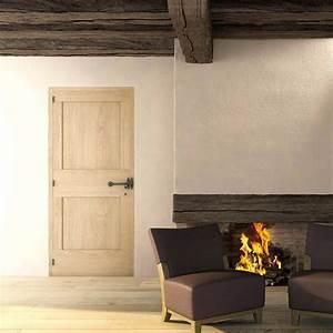 porte dinterieur menuiserie du cens peau senand With porte de garage enroulable et porte interieur bois massif moderne