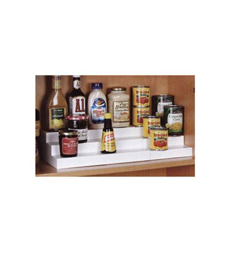 kitchen cabinet shelf risers expand a shelf in shelf risers and organizers