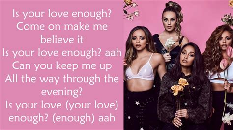 Is Your Love Enough ?