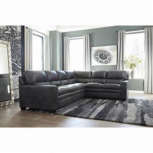ashley signature design gleason leather match l shape With sectional sofas johnny janosik