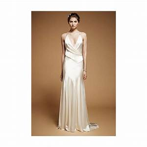 jenny packham fall 2012 drew sleeveless silk satin With silk sheath wedding dress