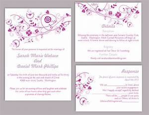 diy wedding invitation template set editable word file With etsy editable wedding invitations