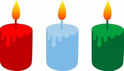 Clipart Candles Churches Candle Birthday Three Votive