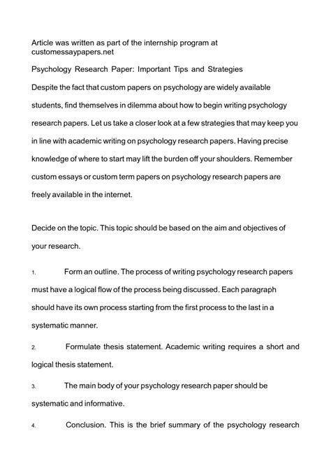 012 Research Paper Psychology Writing Services Topics