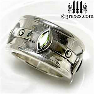 Moorish marquise wedding ring 3 rexes jewelry for Mens wedding rings with stones