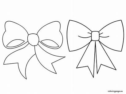 Bow Coloring Pages Cheer Bows Drawing Drawings