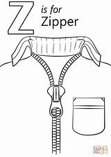 Letter Coloring Zipper Pages Printable Alphabet Zoo Crafts Preschool Letters Sheets Worksheets Colouring Craft Supercoloring Dot Tracing Abc Words Activities sketch template