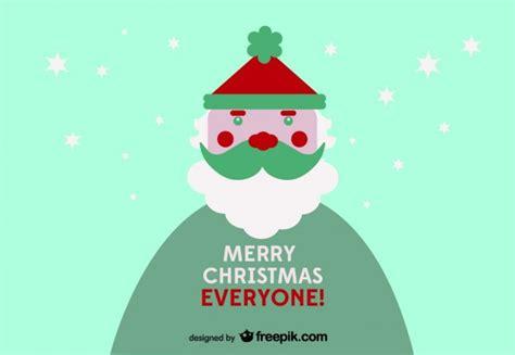 Merry Christmas Everyone Postcard Vector