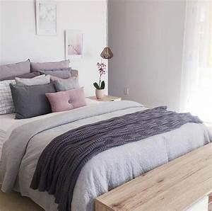 Chambre Rose Pale : 1001 id es pour la d coration d 39 une chambre gris et violet ~ Melissatoandfro.com Idées de Décoration