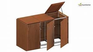 binto 3er mulltonnenbox aus hartholz mit klappdeckel With katzennetz balkon mit mr gardener mülltonnenbox