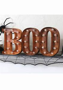 lighted boo sign With lighted letter signs