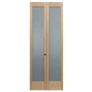 frosted interior doors home depot pinecroft 30 in x 80 in frosted glass pine interior bi fold door 873326 the home depot