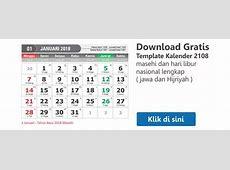Download Kalender 2018 Dan Tanggalan Hijriyah Jawa Lengkap