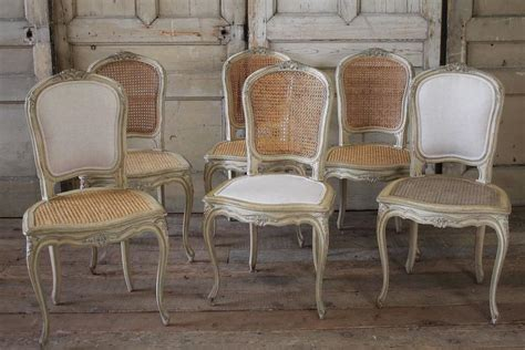 century louis xv antique french cane dining chairs