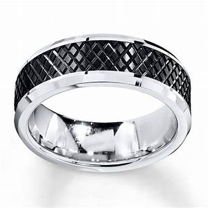 jared wedding band black white tungsten carbide 8mm With jared men s wedding rings
