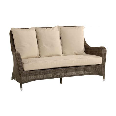 canape en resine tressee canapé 2 places pour salon de jardin en résine tressée
