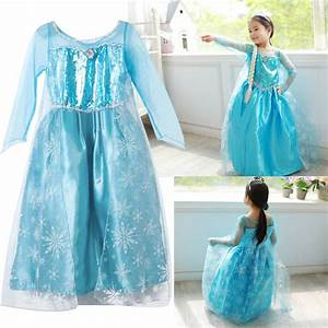 Robe deguisement costume la reine des neiges frozen elsa for Robe reines des neiges