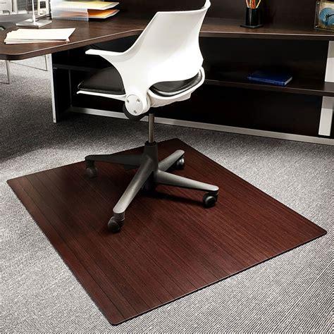 bamboo chair mat bamboo office chair mat 42x48 inch in chair mats