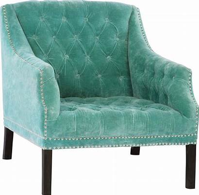 Armchair Turquoise Chair Velvet Chairs Studded Furniture