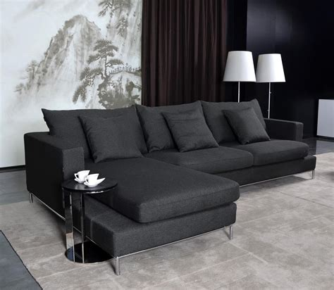 Black Fabric Loveseat by Black Fabric Sectional Sofa Home Furniture Design