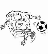 Soccer Coloring Pages Sports Spongebob Squarepants Football Ball Momjunction Playing Printable Printables Sheets Cartoon Player Balls Sheet Play Ones Kicking sketch template
