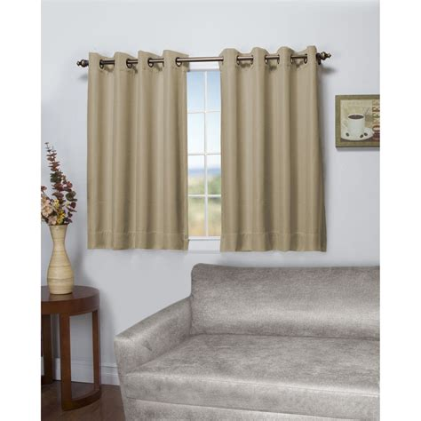 length of drapes tacoma latte blackout length grommet curtain