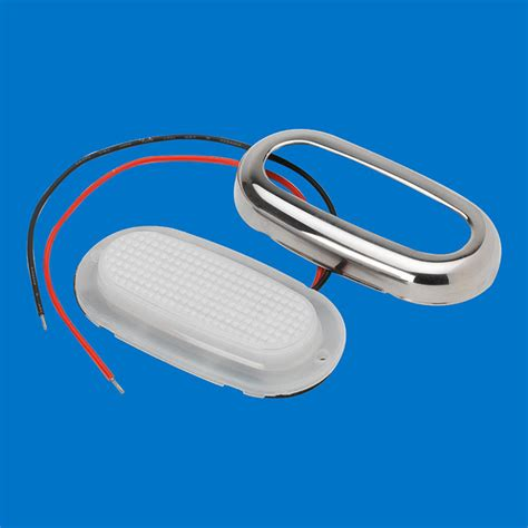 oval white led lights led oval courtesy light stainless warm white leds