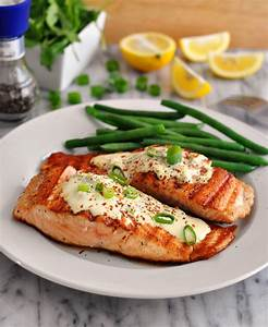 Grilled Salmon Fillets with Wasabi & Lemon Cream Sauce ...