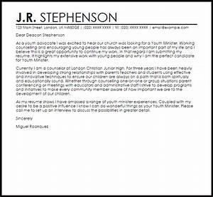 Minister Resume Sample Youth Minister Cover Letter Sample Cover Letter