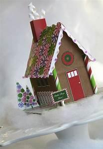 Kit Maison En Pain D Épice : kit de papier pain d 39 pice maison imprimable par paperandcake winter wonderland ~ Nature-et-papiers.com Idées de Décoration