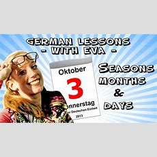 German Lesson 9  The Seasons, The Months And The Days Of The Week Youtube